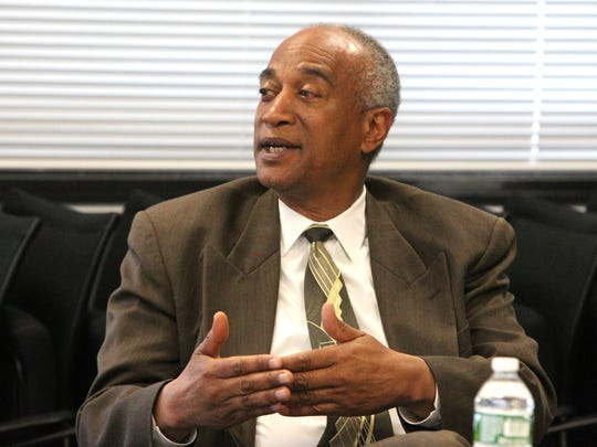 Assemblyman Gary Prelaw discusses a bill that would begin the rebuilding of the Yonkers school buildings with the Journal News editorial board May 6, 2016.