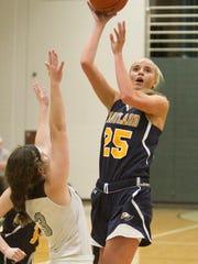 Hartland's Whitney Sollom had 18 points, 10 blocks