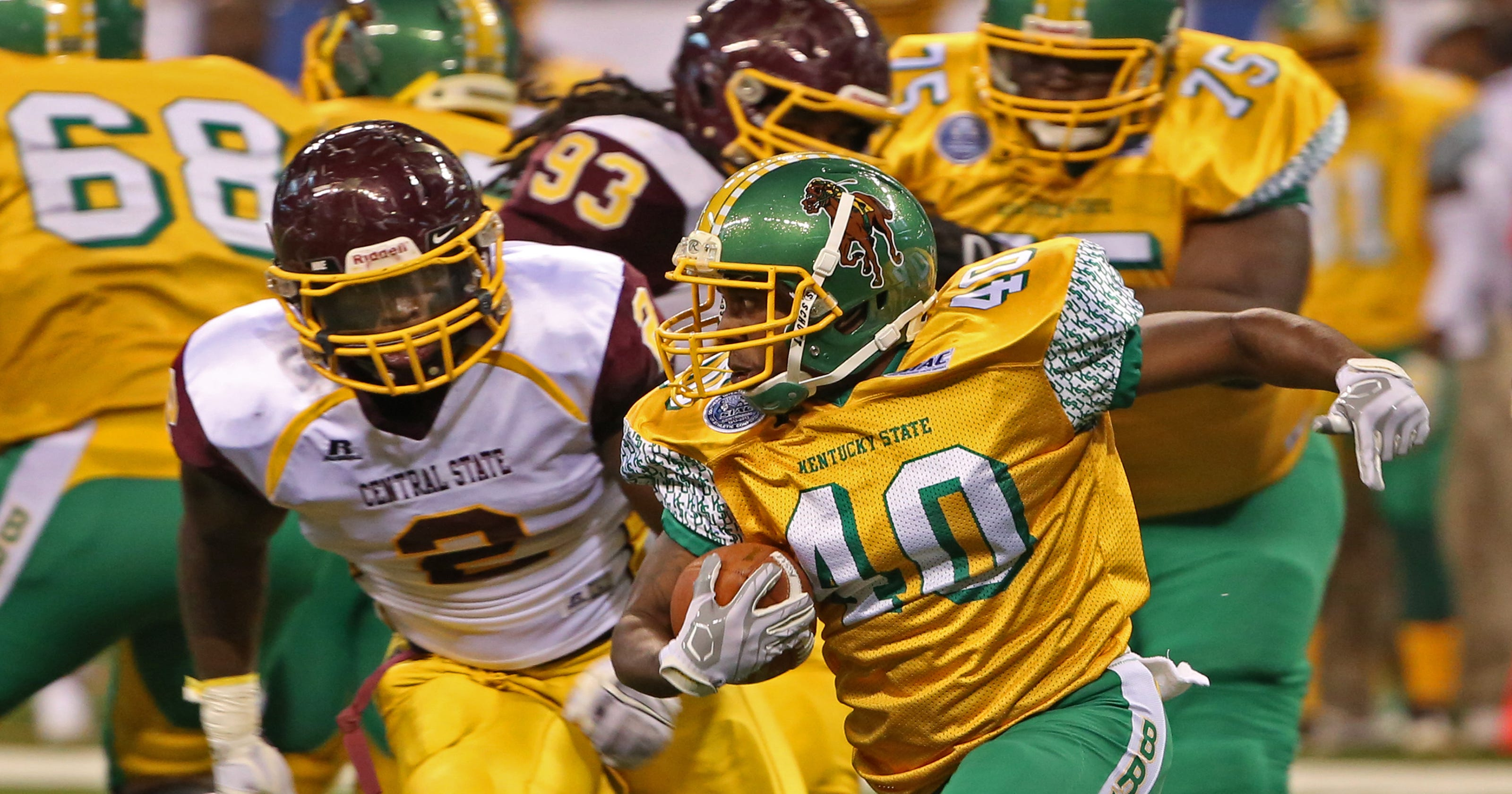 purchase cheap d65a3 170b3 Late Penalty dooms Central State against Kentucky State in ...