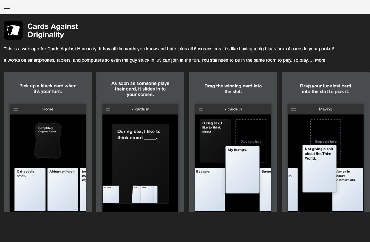 picture about Cards Against Humanity Printable Expansions called Your self can at present participate in Playing cards Versus Humanity upon your cellular phone
