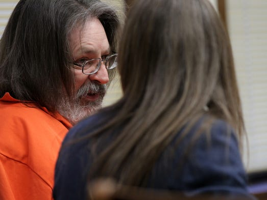 Steven Klein waits for his sentencing at the Johnson