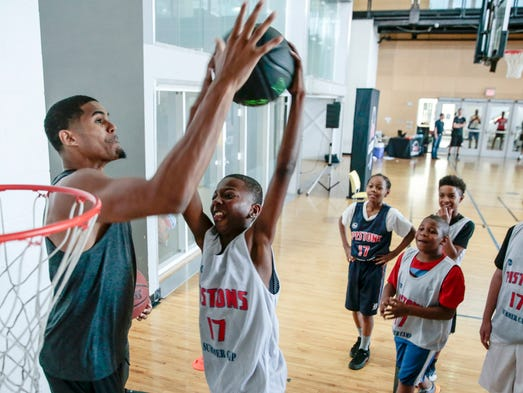 Pistons 39 andre drummond conditions in south africa were for Harris ymca summer camp