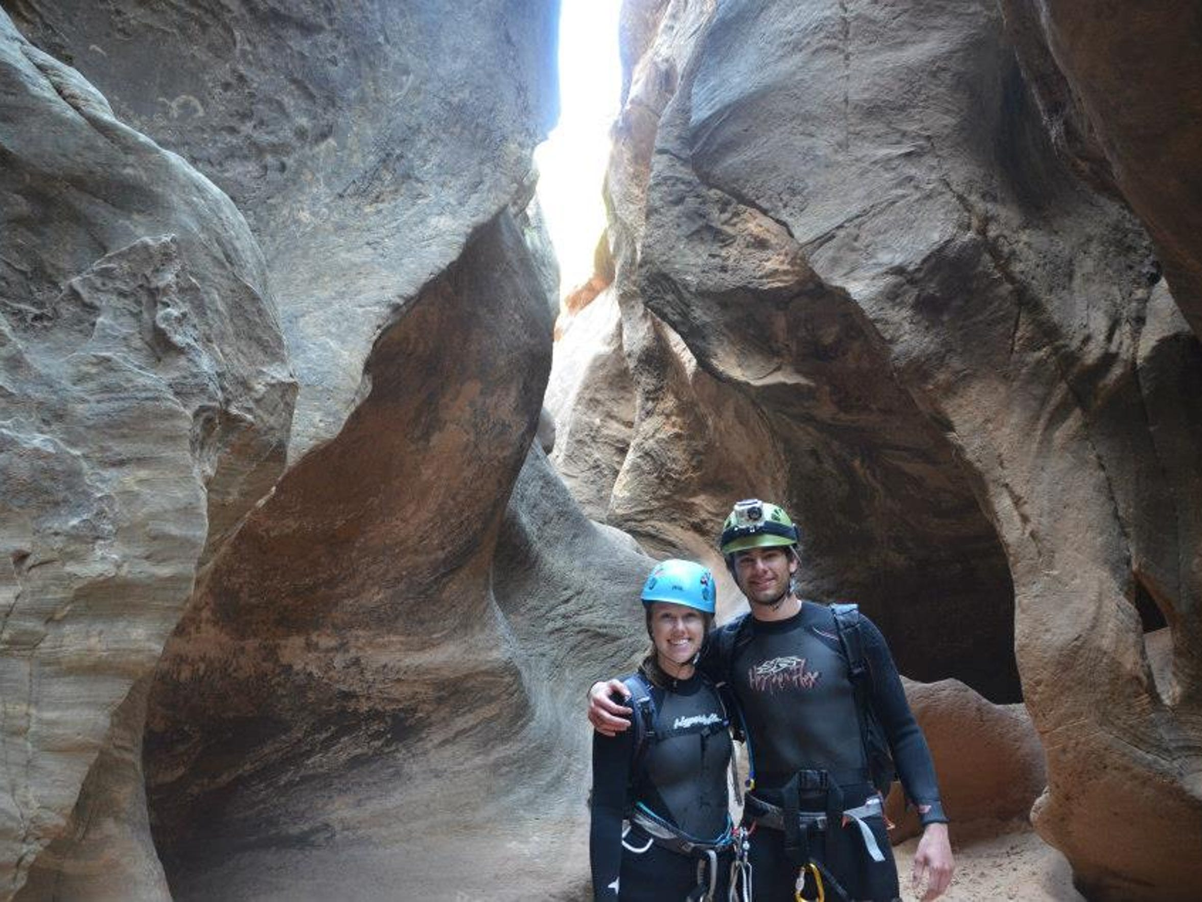 Fiances April Kirby and Brenden Cutter have climbed together for four years. Their climbing adventures have taken the across the world and to the top of several scenic peaks.