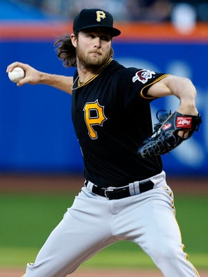 Gerrit Cole went 12-12 with a 4.26 ERA while making a career-high 33 starts in 2017.