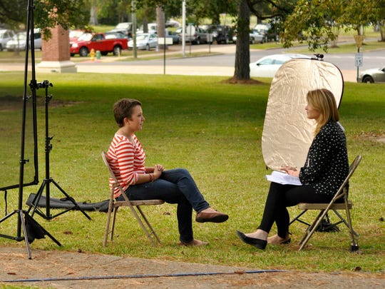 The Today Show's Jenna Bush Hager visits Louisiana College to interview in Hillary Husband in the fall of 2012.