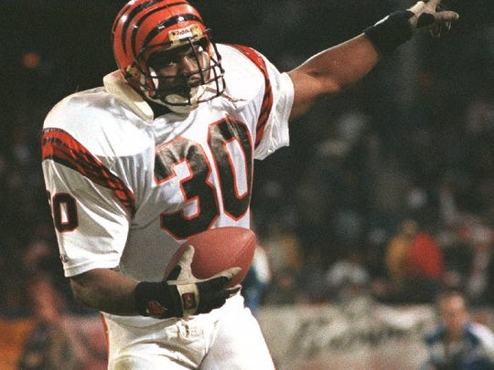 "UNLV running back Ickey Woods became famous for his ""Ickey Shuffle"" with the Bengals."