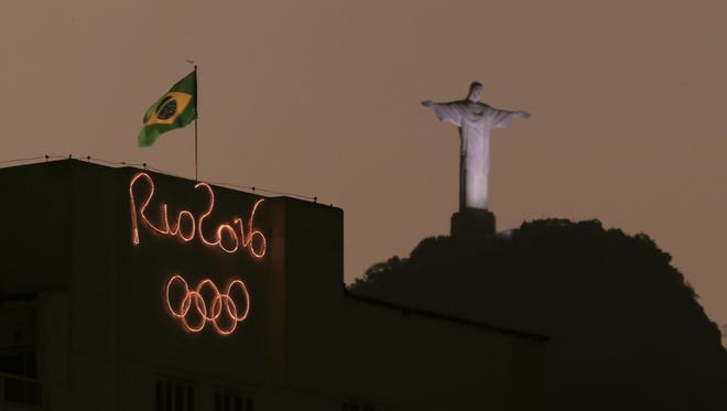 The Christ the Redeemer statue at the #Rio2016 Summer Olympic Games in Brazil.