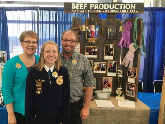 Abigail Henken of the Waupun FFA chapter was the state