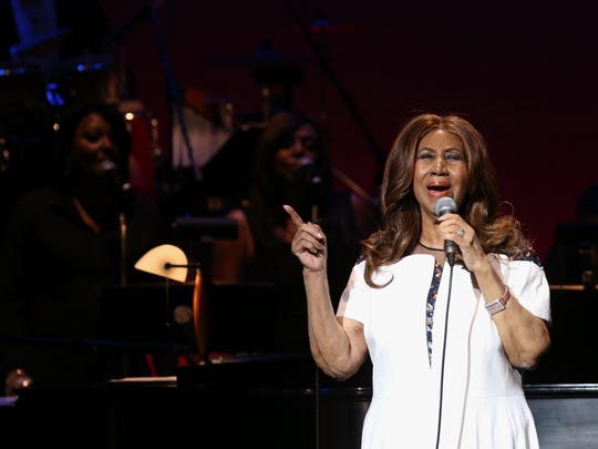 Aretha Franklin performs at the Bardavon 1869 Opera House Gala in Poughkeepsie March 12, 2017.