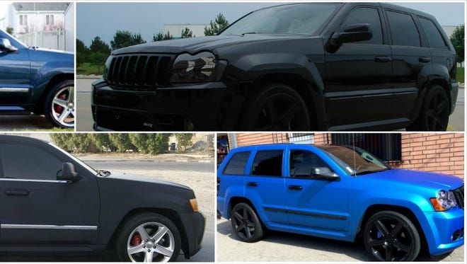 Examples of a Jeep Grand Cherokee SRT8, the kind of vehicle allegedly involved in causing a crash on Telshor Boulevard shortly before 8 p.m. Tuesday.