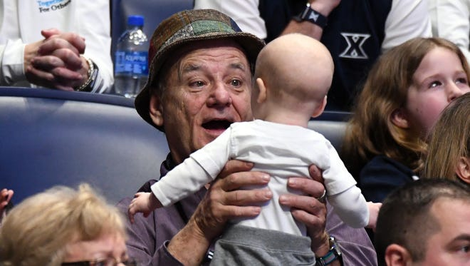 Actor Bill Murray during the first-round game between the Xavier Musketeers and the Texas Southern Tigers.