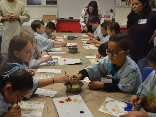 These Palm Springs Unified School District third graders