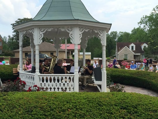 Guests listen to the Richmond Symphony Brass during a past year's Chocolate Garden event.