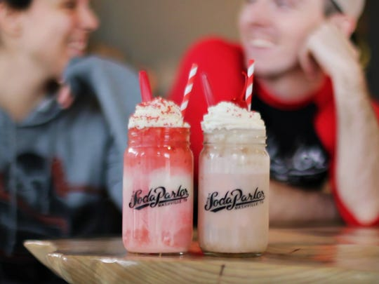 Ice cream floats at The Soda Parlor.