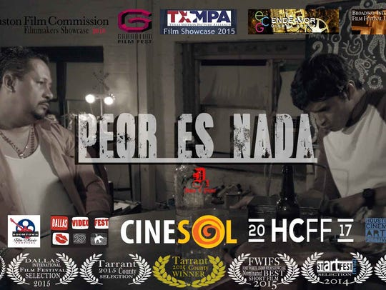 """Film poster for """"Peor es Nada,"""" one of the short films"""