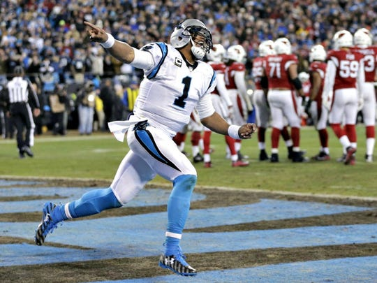 Cam Newton is flying high after leading the Panthers to the Super Bowl with a dominant win over the Cardinals.