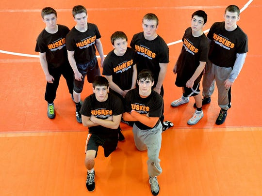 Left to right back row: Tanner and Peyton Leuck, Joey and Gianni Manginelli, Jarred and Ian Tolotti; front: Jake and Mike Vietri.