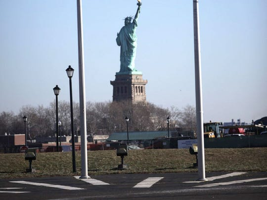 The Statue of Liberty is shown from Liberty State Park in Jersey City Thursday, January 21, 2016.