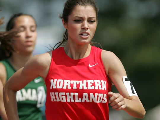 Madison Holleran of Northern Highlands is seen in a