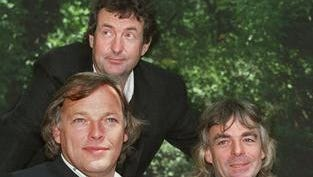 Members of the rock group Pink Floyd, from left, David Gilmour, Nick Mason and Richard Wright, are shown in this 1988 photo. A fresh Pink Floyd album is on the way — 20 years after the band last released new material.