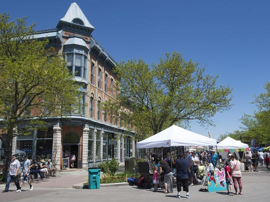 A Cinco de Mayo festival takes place on Linden Street