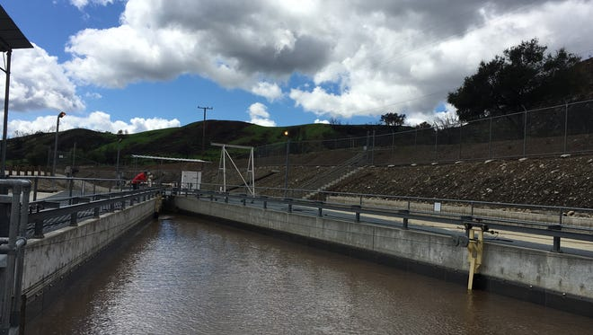 Water from the Ventura River flows into the Casitas Municipal Water District's fish passage facility on a recent day.
