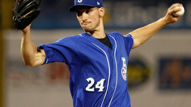 Moeller grad and Anderson Township resident Brent Suter throws for the AA Biloxi Shucker in the Milwaukee Brewers system.