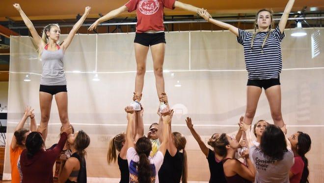 Sarah Aaron is captain of the Silverton High School cheerleading squad.