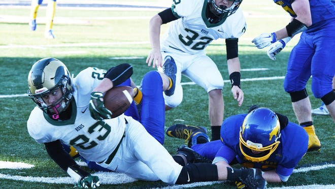 The Regis Rams fell to the Heppner Mustangs in the OSAA 2A semifinal matchup at Liberty High School on Nov. 21.