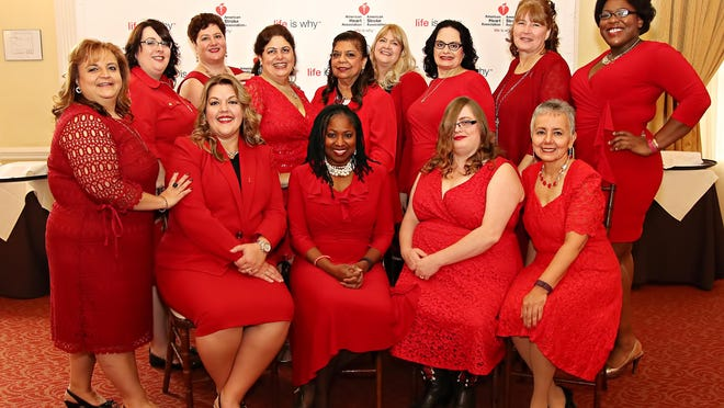 Participants in this year's BetterU Makeover Challenge were celebrated during the American Heart Association's Go Red luncheon in October, including, seated, from left, Erica Tyler, Ozie Williams, Jen Paglia and Nereida Torres; standing, from left, Stefani Timpano, Erin Cafarelli, Tina Vaitkus, Susan Dao, Samina Hameed, Louise McLoughlin, Valerie Delmar, Colleen Napora and Renee Oni-Eseleh.