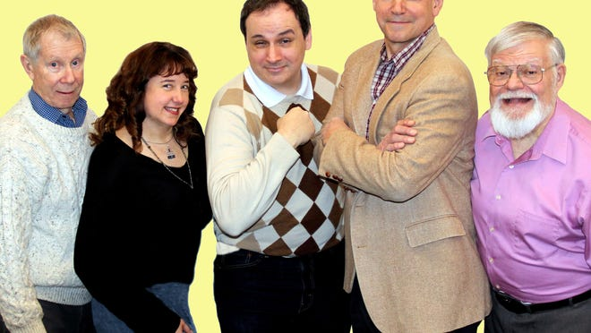 "The cast of ""Popeye"" is, from left, Joe Coyle, Kimberly Canale, David Scott, Christopher Denton and Gary Yoggy."