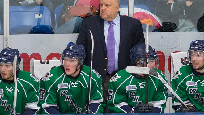 Don Elland begins his duties behind the Whalers' bench when they open the OHL season Friday night against the Knights at London, Ontario.