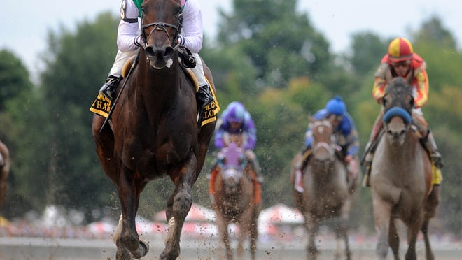 Close Hatches wins the Personal Ensign at Saratoga this summer.