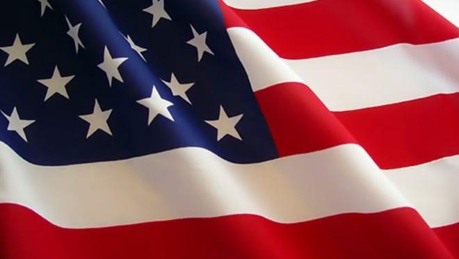 Illustration: American flag.