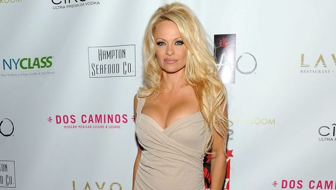 Pamela Anderson in NYC on Oct. 23, 2012.