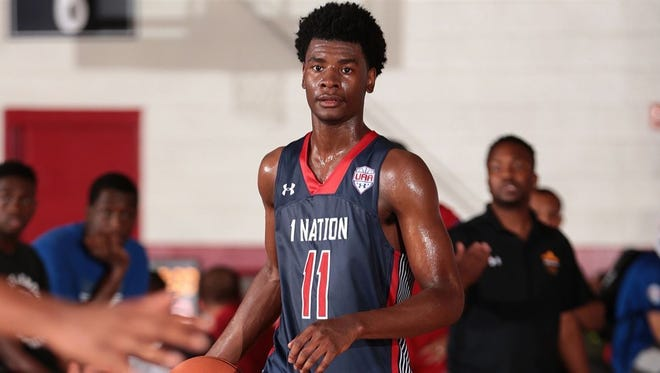 Top basketball recruit Josh Jackson averaged 26.9 points, 13.1 rebounds and 6.3 assists per game this winter for Prolific Prep in Napa, California.