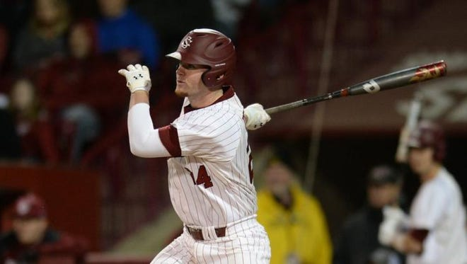 North Buncombe graduate Alex Destino is a sophomore for the South Carolina baseball team.