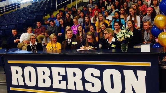 Former Roberson soccer standout Anabell Motley signed with Navy in 2015.
