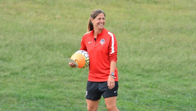 New Sky Blue FC coach Denise Reddy is a New Jersey native.