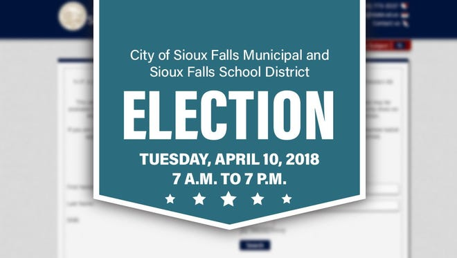 The Sioux Falls city-school board election is April 10.
