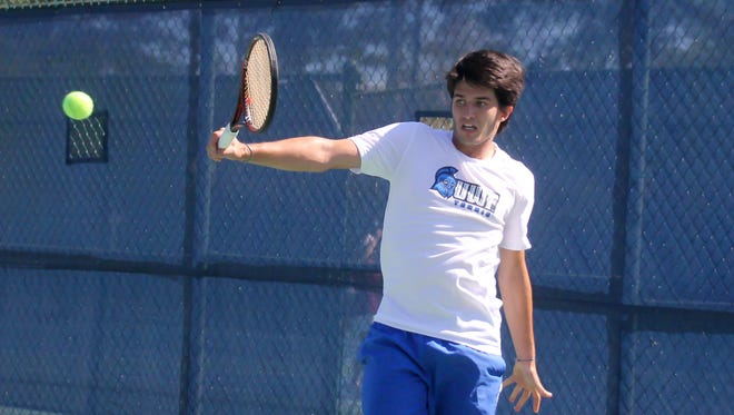 UWF senior Alex Peyrot plays a shot in an undated photo. Peyrot was recently named the Gulf South Conference co-Player of the Year.