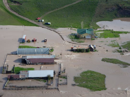 Flooding can be destructive to manmade structures, like in 2011 when the Mussellshell River overflowed its banks.