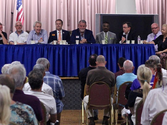 Desert Stonewall Democrats hosted a forum for Palm Springs, Desert Hot Springs and Desert Water Agency candidates seeking the group's endorsement Tuesday at the Mizell Senior Center in Palm Springs.