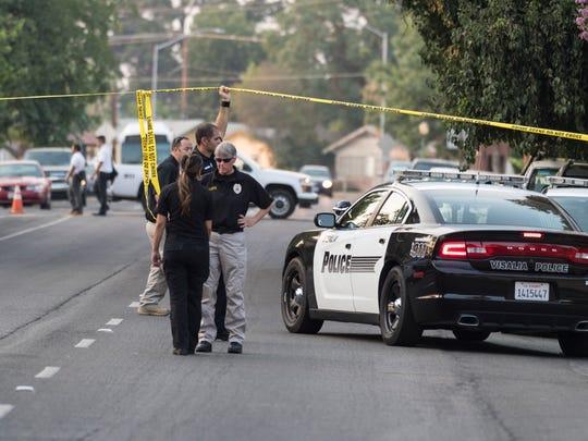 Visalia Police Department investigates a shooting in