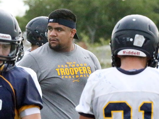 Paulo Melendez, a former UTEP offensive lineman, is an assistant coach at Eastwood.