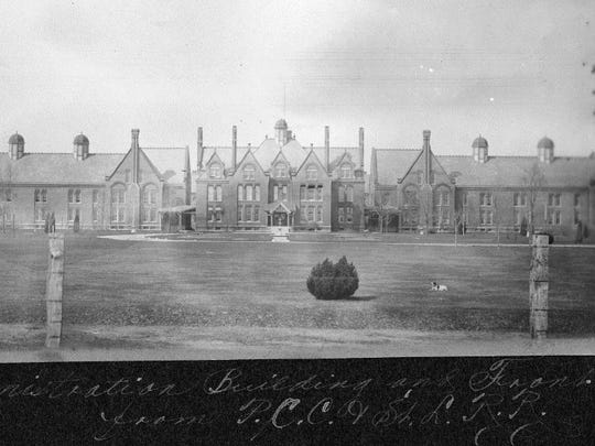 Richmond State Hospital's administration building in the campus' early years.