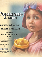 Shelley Phillips, the founder of the art program at Pesach Raymon Yeshiva, will have a solo show at the Highland Park Public Librarythrough April.