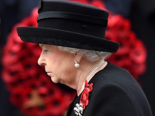Queen Elizabeth II on Nov. 8, 2015.