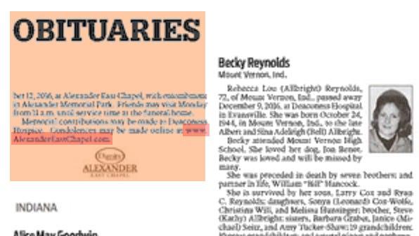 Courier & Press obituaries