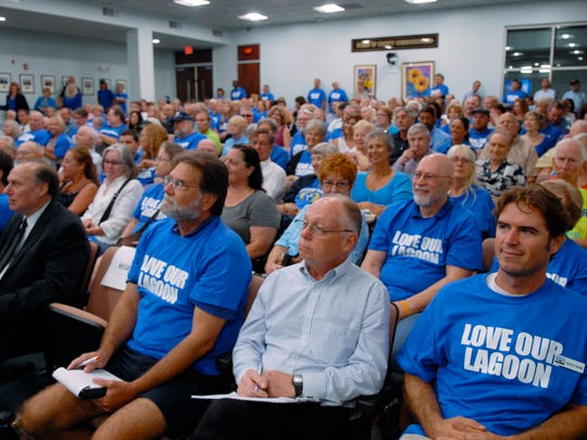 Over 250 people turned out at the Brevard Couny Commission meeting Tuesday morning, mainly for the Indian River Lagoon issue.
